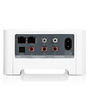 Sonos Connect back view with ethernet ports, audio input/output and power input