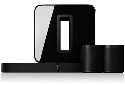 5.1 surround sound-pakket met PLAYBASE en One