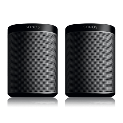 Sonos PLAY:1s 2 Room Music System black