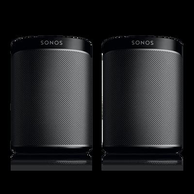 Sonos Play1s 2 Room Music System Black