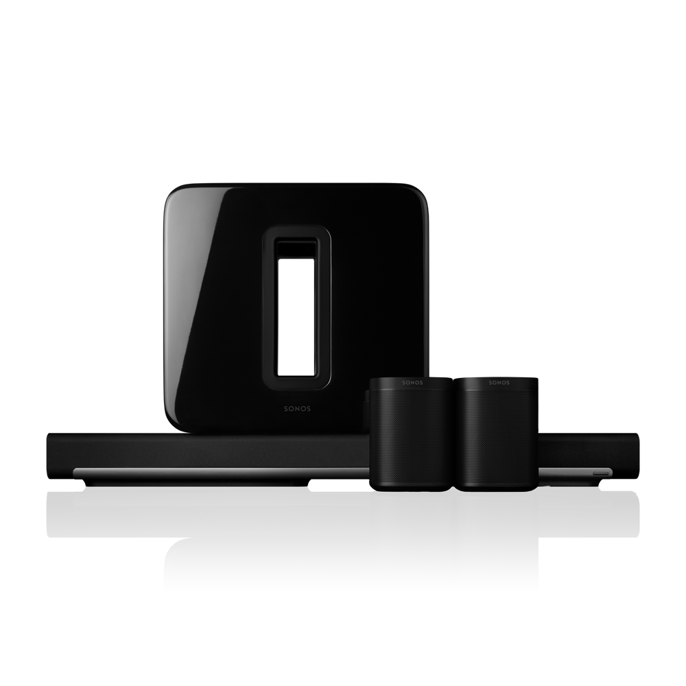 Sonos 5.1 Surround Sound Package with PLAYBAR and One - Black