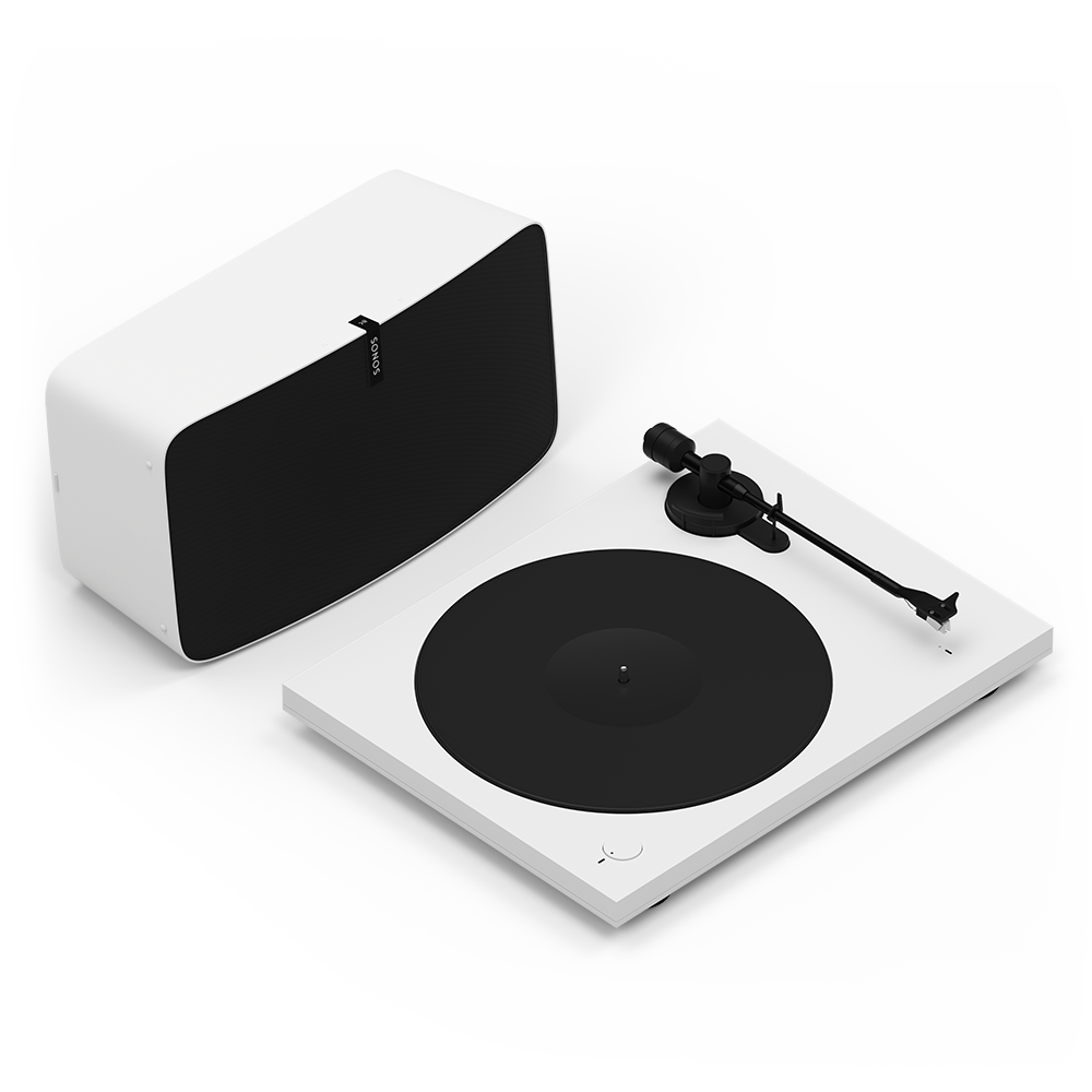 Sonos Vinyl Set - Play:5 + Pro-Ject Turntable - White