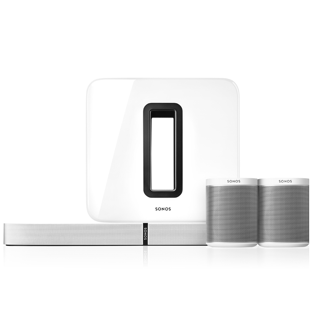 Sonos 5.1 Surround Sound Package with PLAYBASE - White