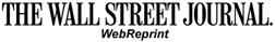 The Wall Street Journal WebReprint
