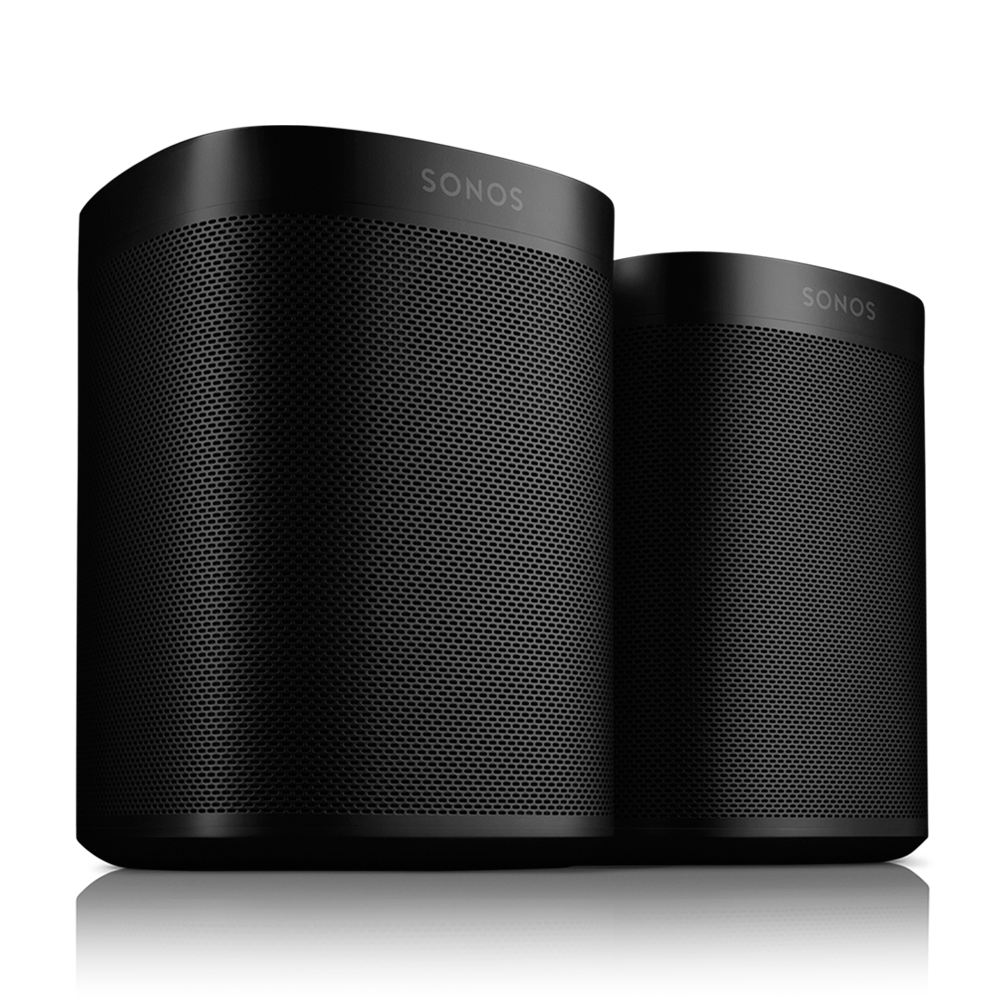 Two Room Set With Sonos One Black Sonos
